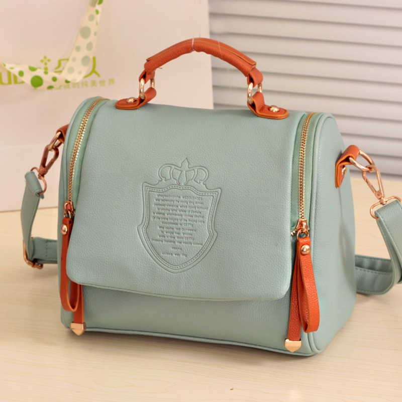Korean Candy-Colored Retro Portable Shoulder Handbags
