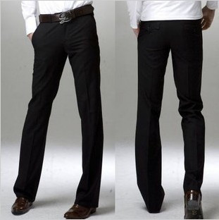 Fashion Korean Casual Men's Slim Straight Long Trousers Pant