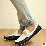 British Men's Fashion Casual Breathable Leather Peas Shoes