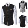Korean Slim Fit Casual Men's Long Sleeve Shirt