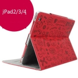 Apple ipad4 ipad3 ipad2 Cute Cartoon Ultra-Thin Protective Holster
