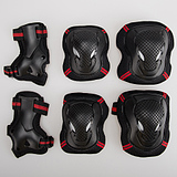 6pcs Unisex Skating Skateboarding Gloves Set