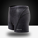 Waterproof Quick-Drying Boxer Sharkskin Swim Trunks Pants