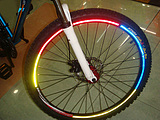 Bicycle Bike Wheel Reflective Stickers/1 Sheet