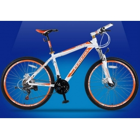 24 Inch Aluminum Frame Double Disc Damping  21 Speed Mountain Bike