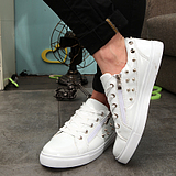 Korean Male High-Top Rivets Shoes