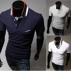 Korean Men's Short Sleeve POLO Shirt