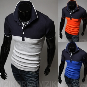 Korean Stylish Slim Fit Short-Sleeved POLO T-Shirt