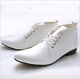 Korean Men's Wedding High Top Toe Shoes