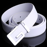Korean Casual Smooth Genuine Cow Leather Buckle Belt