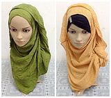 Fashion Crushed Composite Wire Tudung Scarf  165*60CM
