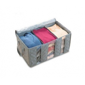 Bamboo Perspective Clothing Three Grid Storage Box