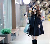 WCC6975 European Style Big Yards Woolen Women Cape Coat Jacket