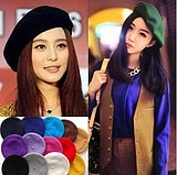 Korean Retro Winter Fleece Wool Painter Hat