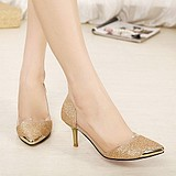 Korean Princess Women's Luxury Powder High-heeled Women Banquet Shoes
