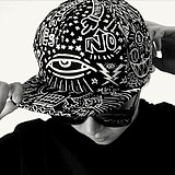 Korean Zhi Long GD Harajuku Cool Hip-hop Casual Graffiti Eye Baseball Hat Cap
