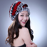 Korean Winter Warm Rabbit Fur Knitting Wool Hat