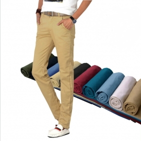 Men's Casual Straight Long Pants Trousers
