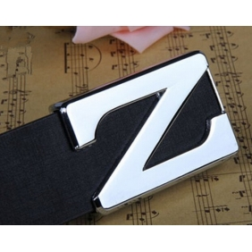 Z Letter Korean Trend Personalized Men PU Belt