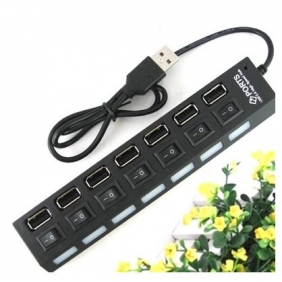 7 USB Port HUB / Converter with Switch