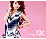 WCC6749 Korean Striped Chiffon Dress