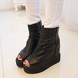 Korean Fish Head Women Thick Crust High-heeled Platform Sandals Shoe