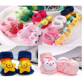 Cotton Cartoon Baby Doll Style Non-Slip Socks