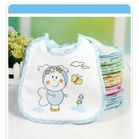Korean Children Cotton Waterproof Bibs