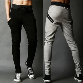 Korean Men's Casual Harem Long Sport Trousers Pants