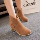 England Thick High-heeled Ankle Martin Boots Shoe