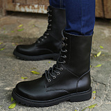 British Men's Fashion Genuine Cow Leather Knight  Martin Boots