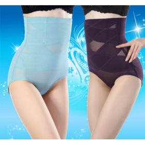 Female Breathable Mesh Abdomen Body Sculpting Thin Section Waist Slimming Pants