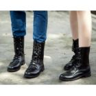 European Couple Unisex Motorcycle Martin Boots Shoes