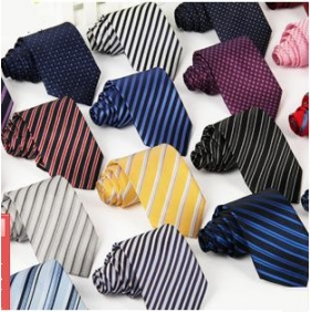 Men's Casual Polyester Jacquard Silk Striped Tie