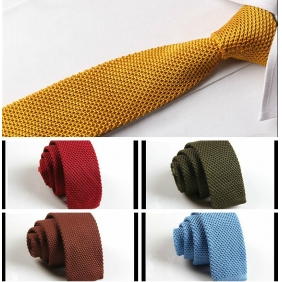 Korean Solid Color 5cm Knit Tie