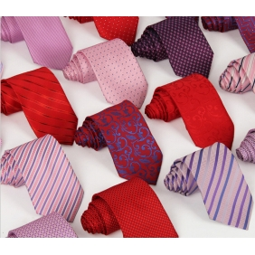 British Men's Polyester Jacquard Tie
