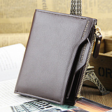 Men's Short Thin Multi-Function Zipper Wallet