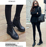 European Fashion Pointed Flat Motorcycle Martin Boots