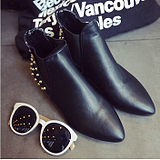 Europe Pointed Rivet Punk Short Martin Boots