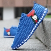 Korean Casual Men's Horse Logo Breathable Mesh Shoes