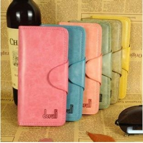 Korean Style Women Genuine Cow Leather Long Wallet