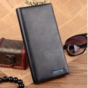 Men's Business Iron Edge Leather Wallet