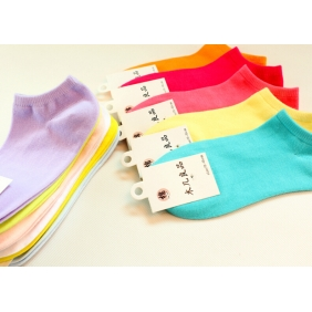 Candy Color Female Short Socks