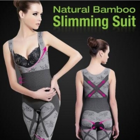 Natural Bamboo Charcoal Body Sculpting Corset Thin Abdomen Shaping Magic Slimming Suit Clothing