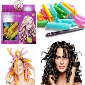Magic Circle Hair Styling Roller Curler Leverag Tool For Spiral Curls Curlfor 18pcs/Box