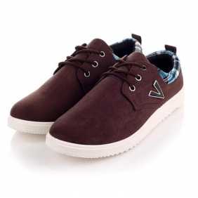 British V Letter Casual Men's Shoes