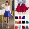 Candy Colored Waist Big Swing Umbrella Short Skirt