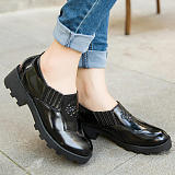 Korean Unique Personality Academic Root Platform Shoes