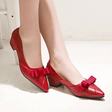 Elegant Wedding Patent Leather Pointed OL Shoes