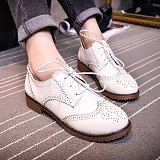 British Style Bullock Retro Preppy Oxford Flat Shoes
